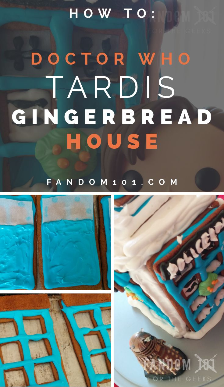 How To: DIY TARDIS Gingerbread House Tutorial