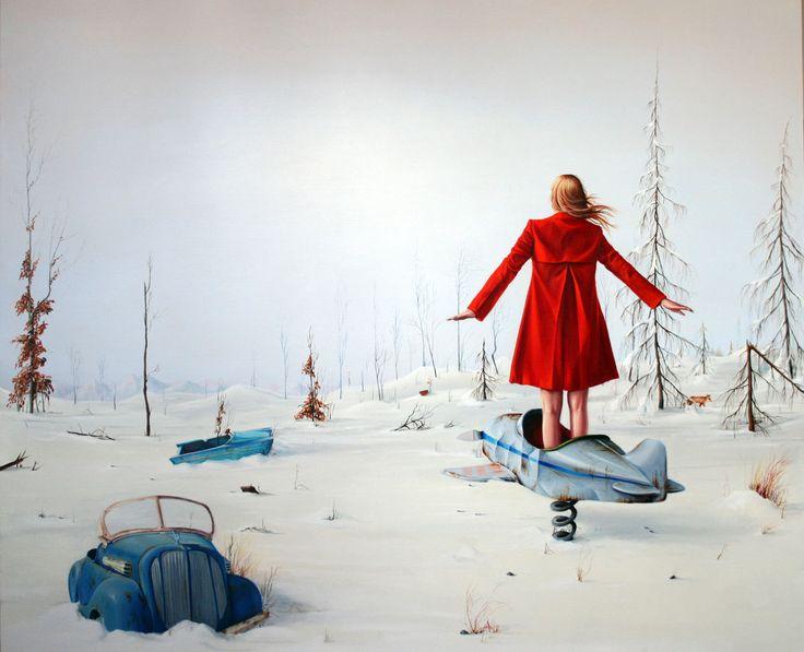 Ewa Prończuk-Kuziak, Plac zabaw, olej na płótnie, 100x120 cm, 2014r.