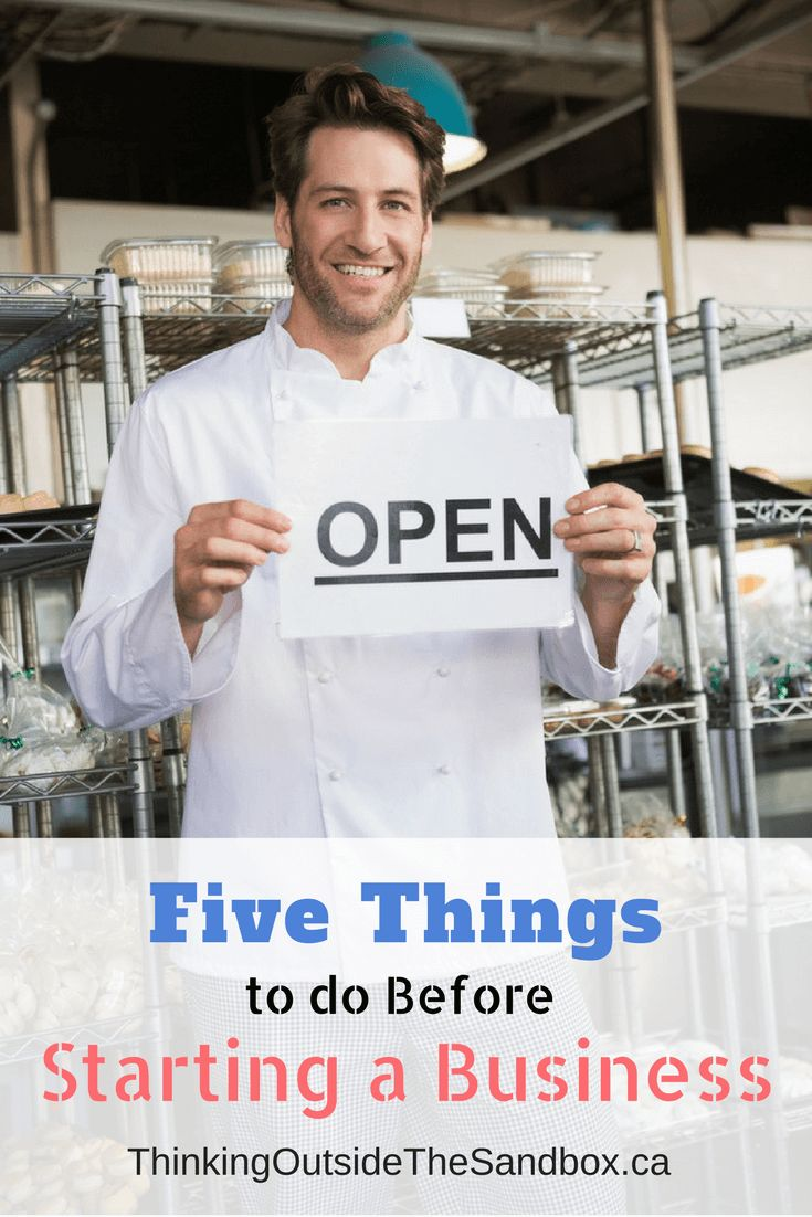 Five things to do before starting a business #StartUp #NewBusiness #Business