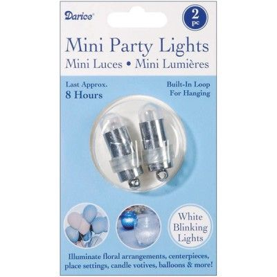 White Blinking Balloon Lights | 2pc for $2.60 in Balloons - Decorations