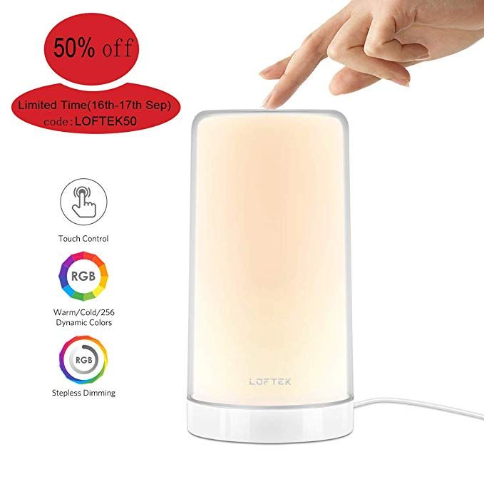 Updated Table Lamp Loftek Touch Lamp Bedside Reading Lamp Dimmable Rgb Color Changing Lamp Modern Smart D Touch Lamps Bedside Touch Lamp Color Changing Lamp