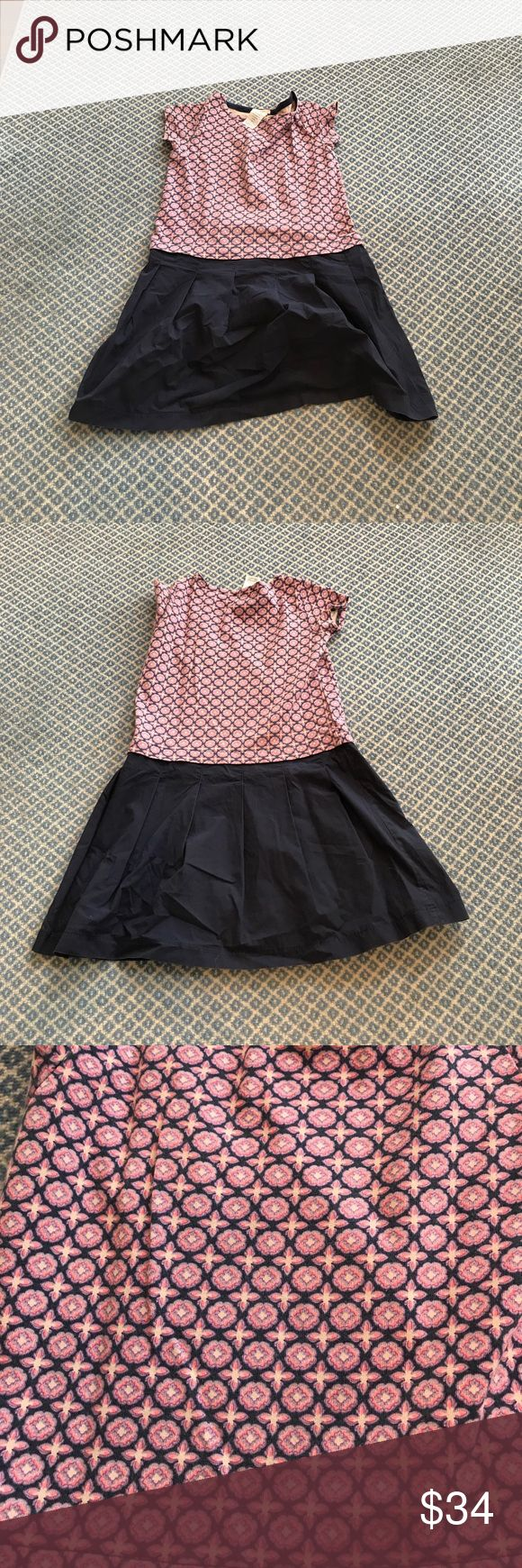Crewcuts Kids Navy Blue And Pink dress. Cute Size 10, Crewcuts dress for kids. Cool multi colored print dress. Crewcuts Dresses Casual