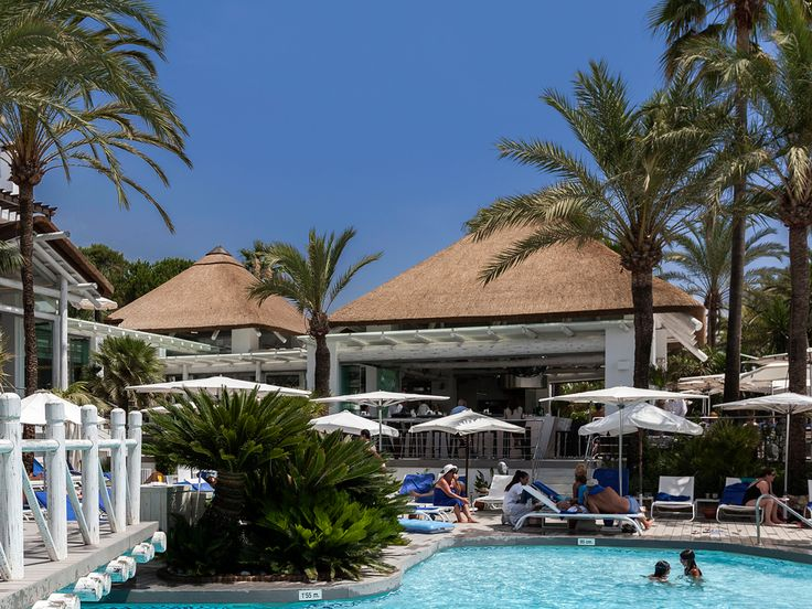 Puente Romano Beach Club in Marbella, Spain
