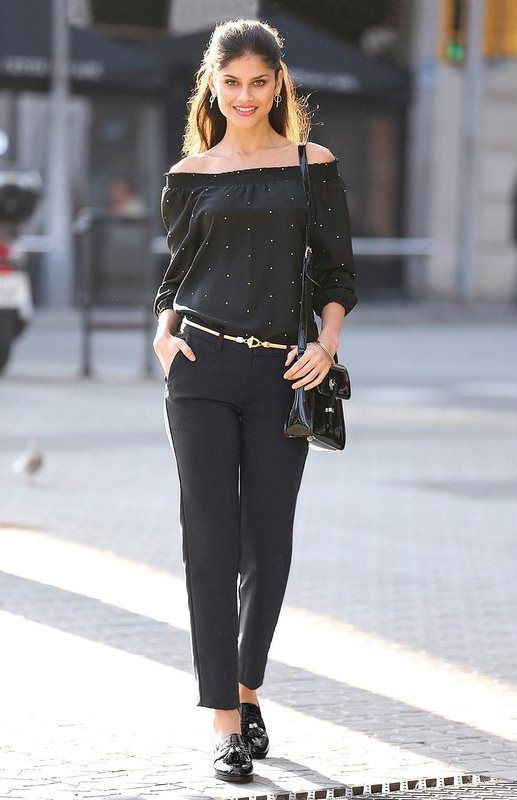 Pantalon de smoking uni noir Exclusivité 3SUISSES - #Workinggirl
