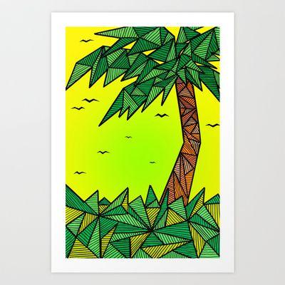 die Palme Art Print by Daniel Jackman - $20.80