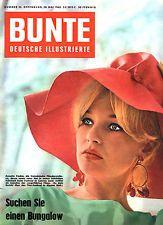 Zeitschrift BUNTE Nr. 22 von 1960, Titelbild Annette Vadim, guter Zustand