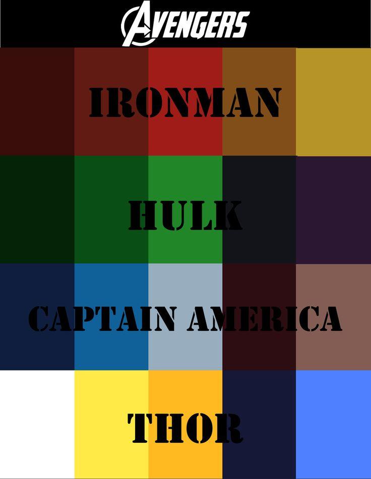 Avengers Color Scheme By Briandnz Deviantart Com On