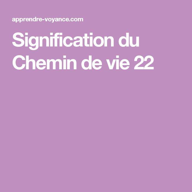 Signification du Chemin de vie 22