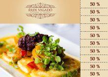 Ebéd vagy vacsora exkluzív környezetben, kuponfüzet az Érdi Vigadó Étterem és Kávézóba