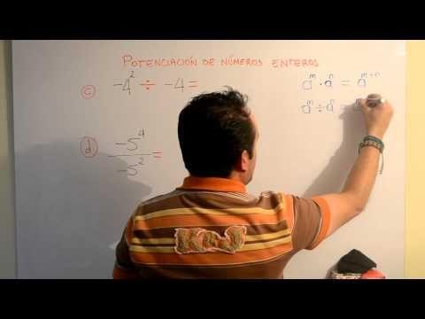 Potenciación de Números Enteros | Clases Gratis de Matemáticas - YouTube