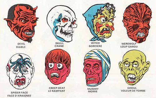 Collegeville Halloween masks from 1981 via design*sponge