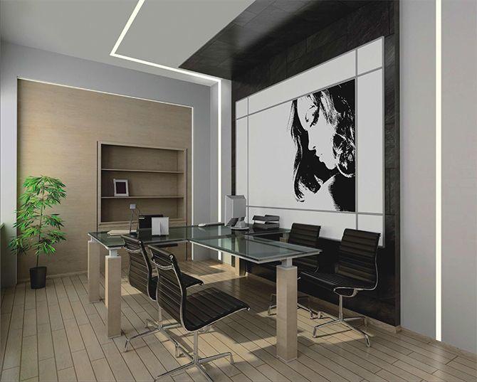 Iroda- és tárgyaló dekorvilágítás besüllyesztett LED profilokkal
