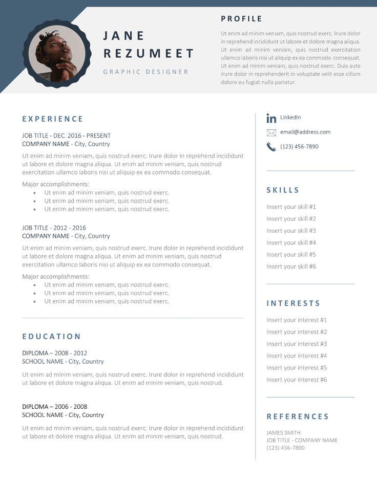 Gasherbrum Modern Professional Resume Template Resume Template Professional Cv Template Professional Resume Template Word