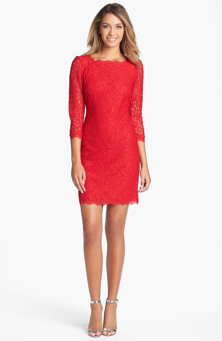 Red + lace = wow!