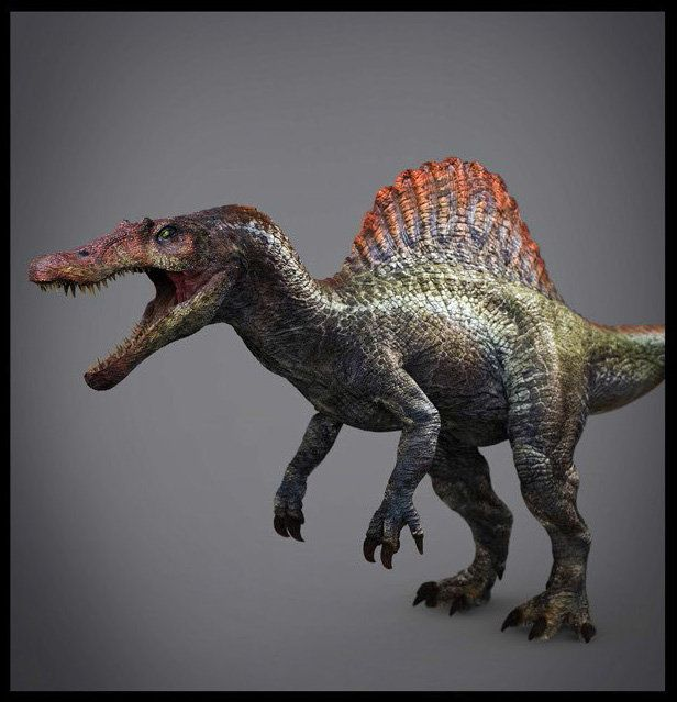SPINOSAURUS FROM JURASSIC PARK 3, JULIEN ROMEO on ArtStation at https://www.artstation.com/artwork/spinosaurus-from-jurassic-park-3
