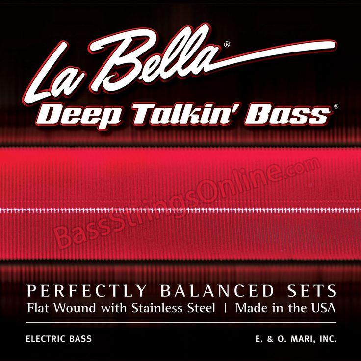 la bella deep talkin 39 flat wound bass strings 4 string set pbass guitar strings acoustic. Black Bedroom Furniture Sets. Home Design Ideas