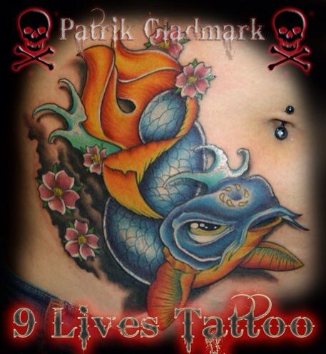 Koi . It's actually a cover of a small fairy tattoo. Done by Patrik Gladmark