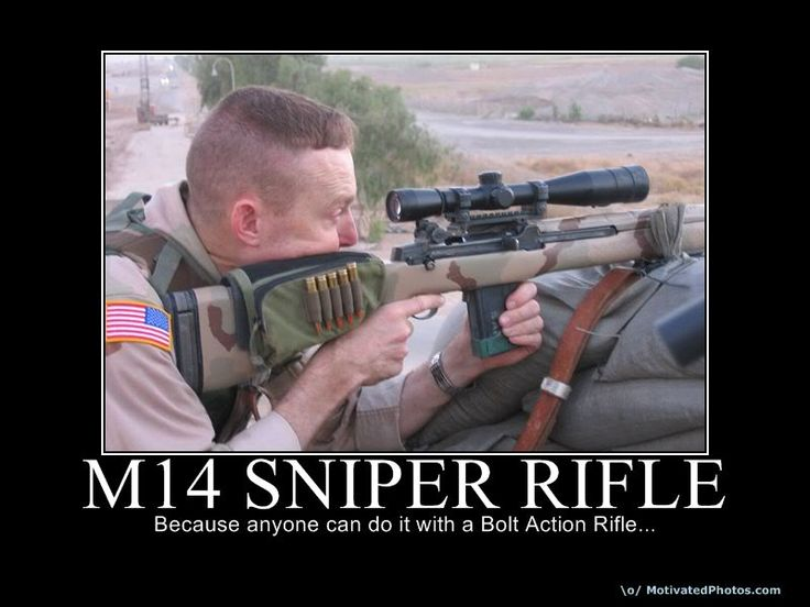 funny motivational posters | Others: m14 sniper rifle ... M14 Sniper Rifle Usmc