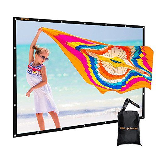 120 inch Outdoor Movie Screen PVC Fabric with Bag, GBTIGER Collapsible Wall/Ceiling Mount Projection Screen, 120 inch Portable 16:9 Indoor Outdoor Home Theater Presentation Projector Screen, PVC. ✔【Durable & Portable】: PVC Composite resin material, smooth non-deformation surface, synthetic fiber, Mildew Best Offer