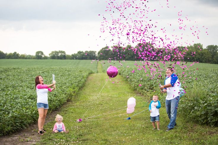 New Gender Reveal Confetti Cannon  What am amazing way to reveal the gender of your new baby - makes awesome photos and videos as well to capture the moment!