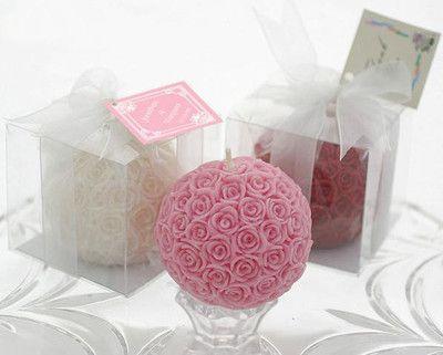 婚庆回礼玫瑰球蜡烛 台湾香港流行蜡烛 圣诞婚庆用品批发厂家直销