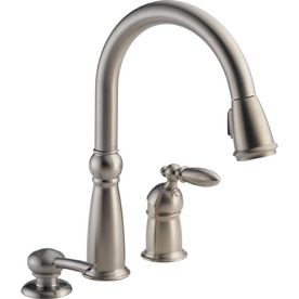 Laundry sink faucet?   Delta Victorian Stainless 1-Handle Pull-Down Kitchen Faucet