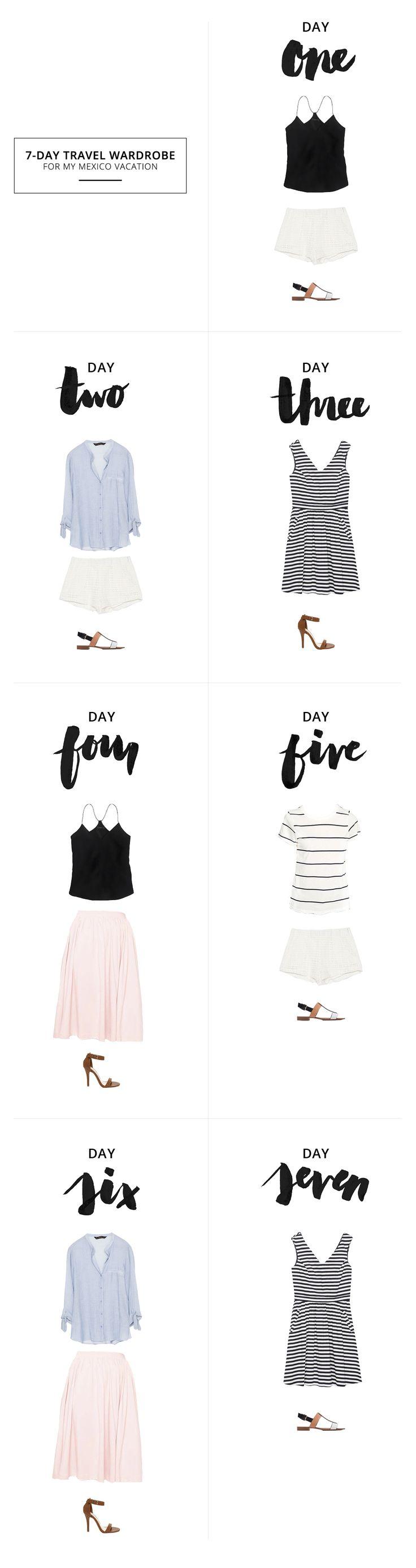 7-Day Travel Wardrobe // Creating a capsule holiday wardrobe | see, love, covet