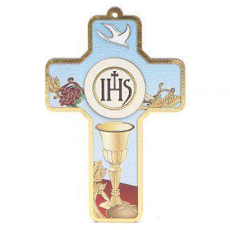 Cross pvc First Communion with greeting card ITALIAN [BO000262] - £1.52…