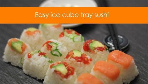 ... sushi sushi cut handrolls sushi salad sushi cake ice tray sushi blocks