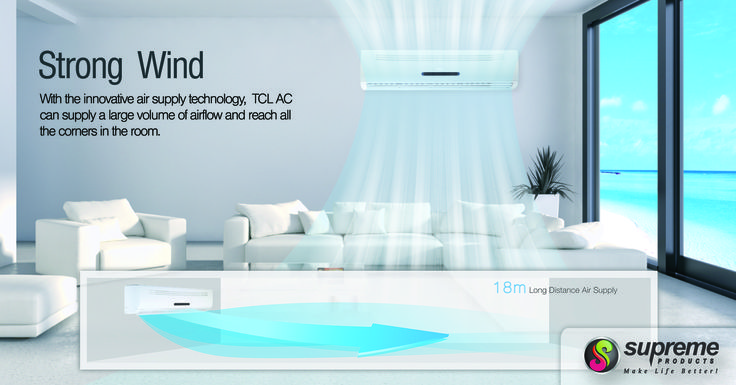With Advanced Technology, TCL AC delivers cool and comfortable experience more quickly than before. TCL DC Inverter AC varies the rotation speed of the Compressor, providing a precise method of maintaining the set Temperature. The Temperature fluctuation is controlled within ±0.5°C. We have Three Models in Air Conditioners. 3-Star, 5-Star, Inverter Based. More Details Visit : http://supremesolar.in/airconditioner.html