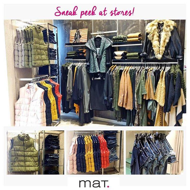 Sneak peek at #matfashion stores! Η μέρα ξεκίνησε με μία βόλτα στα μαγαζιά....! Ξεχωρίζουμε τα must-have αμάνικα μπουφάν σε υπέροχα χρώματα και φυσικά τα αγαπημένα μας jeans! #fallwinter16 #collection #shopping #ootd #inspiration