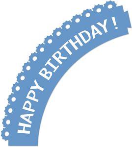 Silhouette Online Store - View Design #24345: happy birthday gear cupcake wrapper
