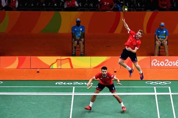 Doubles pair Chris Langridge and Marcus Ellis became the first Team GB badminton players to reach an Olympic semi-final since Athens 2004 while Rajiv Ouseph became the first British man to reach an Olympic singles quarter-finals.(3136×2091)