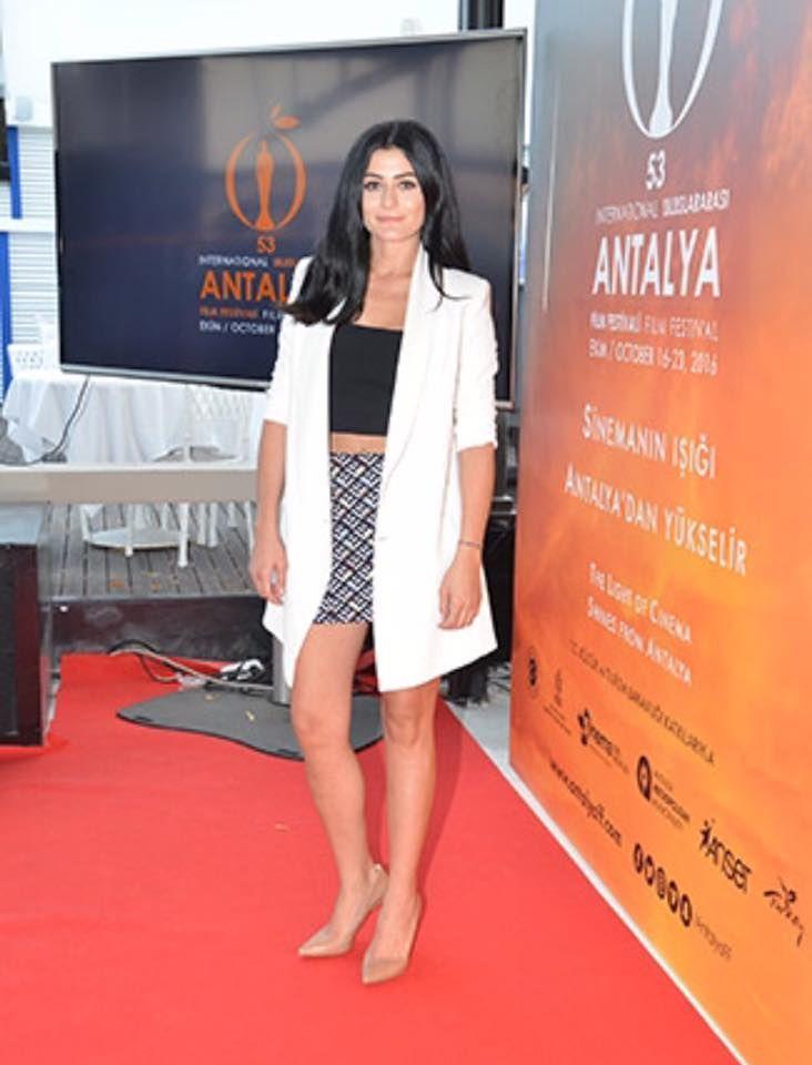 Deniz at Antalya Altın Portakal (Golden Orange) Film Festival launch.