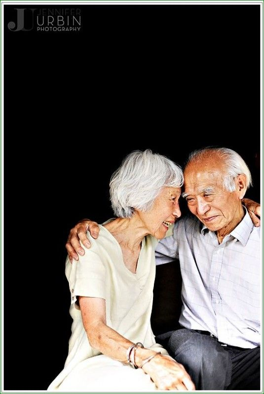 I love seeing elderly people still so in love. It shows that it can outlast anything.  So heartwarming