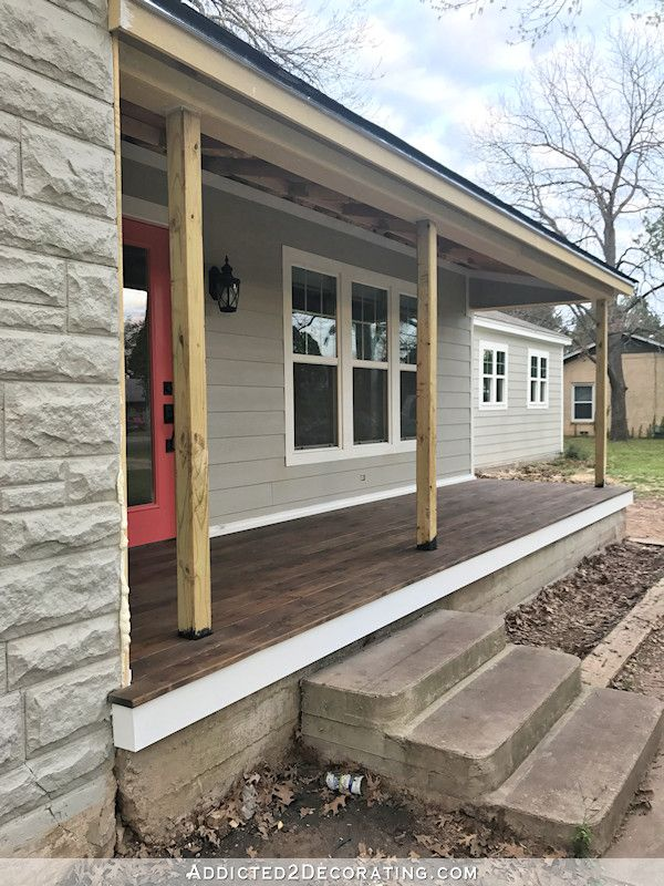 Best Finished Front Porch Floor Wood Front Porch Built Over 400 x 300