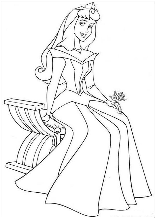 printable coloring page of disney princesses - Printable Drawing Sheets