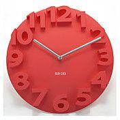 """14 """"reloj de pared mudo número 3d – USD $ 24.99"""