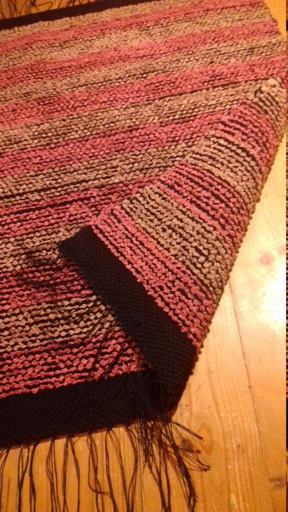 Cotton rug. I named this rug as Really Plesent Rug. I did this because this rug is really nice and soft. This pink and brown cotton rug is hand woven in looms. Colors. Pink, brown and black. The weft material is high quality rug yarn produced in a small Estonian company. This pink and brown rug is very nice for nursery or bedroom decor. Or cozy in kitchen. This design is old and nice country style rug. Those materials are soft and warm. This rug is very nice in childrens room too. As…