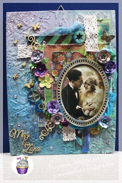 Pracownia artystyczna IKart: Vitage'owe ślubne LO na podobraziu