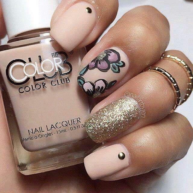 rosa cipria dorato glitter fiori opaco