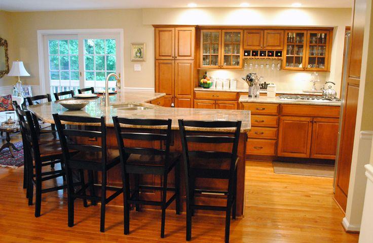 island that seats at least 8 kitchen pinterest kitchens kitchen redo and kitchen decor. Black Bedroom Furniture Sets. Home Design Ideas