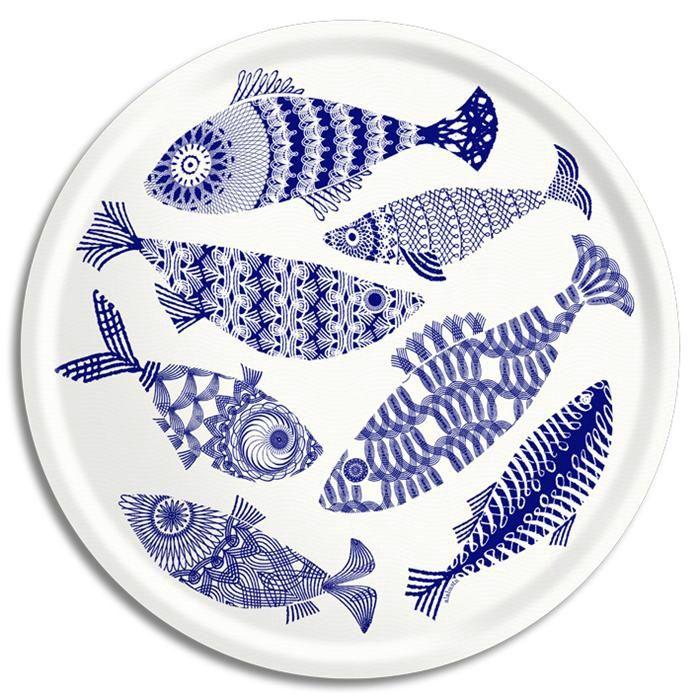 Blue fish by Alabasta   Asta Barrington / Alabasta   Collections   Åry Trays