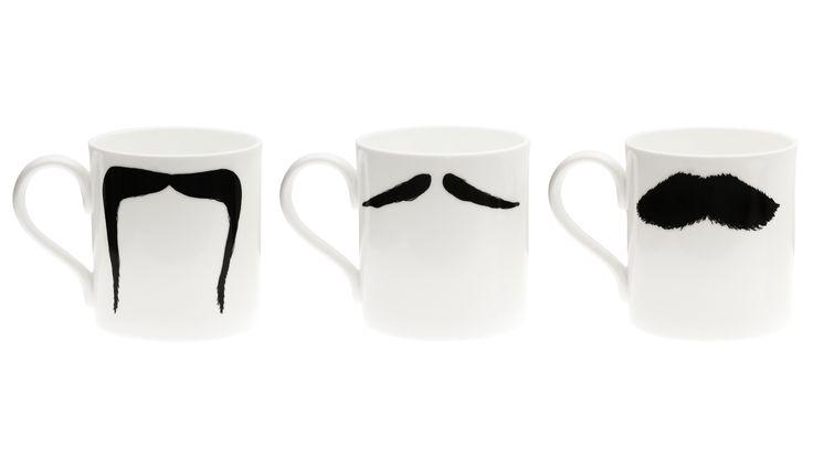 Moustache Mugs.: Father'S Day Gifts, Mustache Mugs, Mugs Set, Moustaches Mugs, Fathers Day, Mustaches Mugs, Mustache Bigote