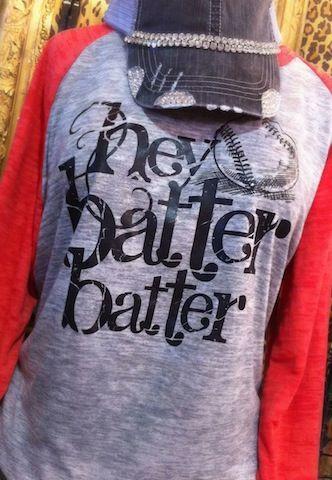 Hey Batter Batter Raglan Tee Momma Tball shirt :)