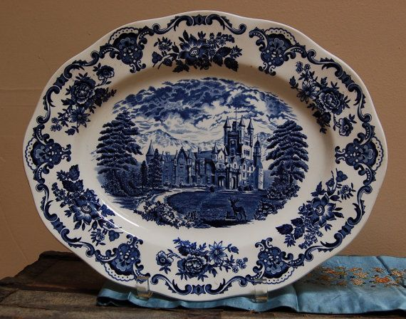 Vintage Enoch Wedgwood 14 Quot Oval Platter Royal Homes Of