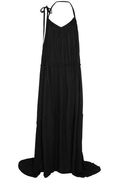 Ann Demeulemeester - Crepe Halterneck Maxi Dress - Black - FR34