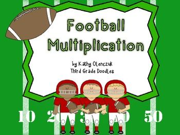This super fun football game will help your students learn their multiplication facts while also giving practice with 2 & 3-digit addition!!Your students will LOVE the football themed game!!Includes10 full-color gameboards (one for each factor 3-12)DirectionsScoresheetFact CheckerExtra Points Reference GuideI would love your feedback!Kathy O.Third Grade Doodles
