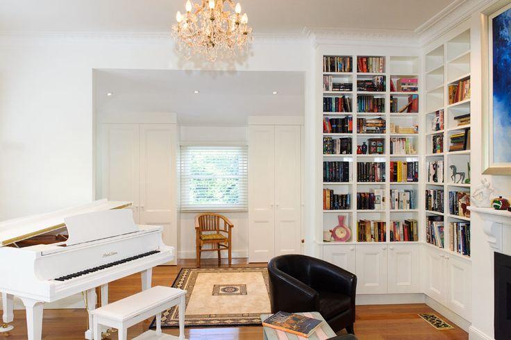 Custom design bookcase lounge room storage sydney - http://bit.ly/1Kmro37