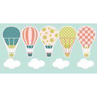Adesivo Infantil Que Tal Para Parede - Balões e Nuvens